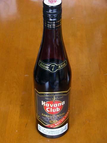 キューバ(Cuba)のラム(RUM)ハバナクラブ7年(RON HAVANA CLUB ANEJO 7)